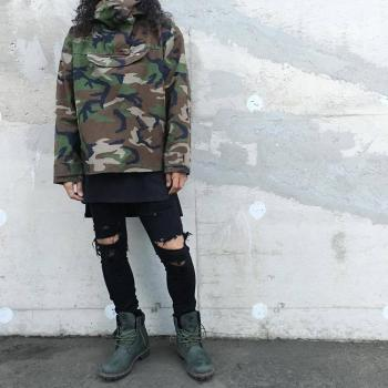 OEM dropshipping stock army green camo jacket