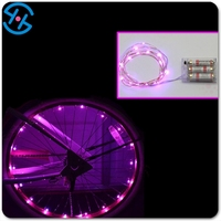 2017 AA battery operated Colorful LED Bicycle wheel fashion night decorative running led lights for christmas