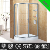 3 glasses shower enclosure with deep tray shower tray