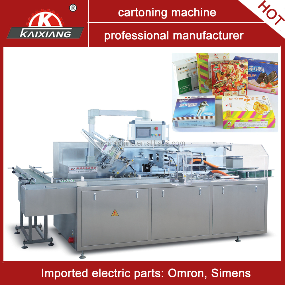 high speed cartoner machine for meat pie with big size box