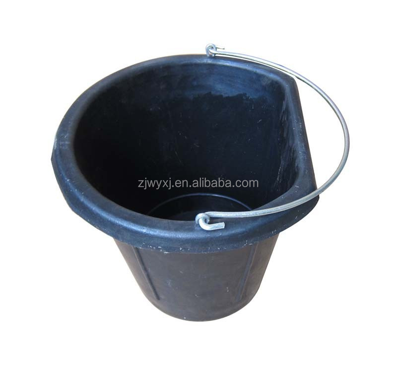 17L Flat Back Rubber Feed Bucket