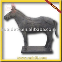 Life Size Clay Chinese Horse Statue for Garden Decoration BMY1171