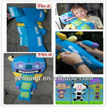 Kids seat belt car seat belt cover pillow and cushion toy