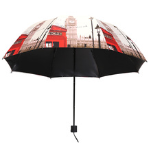 Wholesale Fashion print dome folding umbrella gift sun umbrellas for women full body