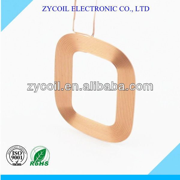 QI standard wireless charging receiving coil