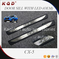 Hot selling Good quality ABS Plastic OEM door sill with led for CX-5 parts CX-5 body kits