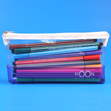 Clear transparent plastic pvc pencil case