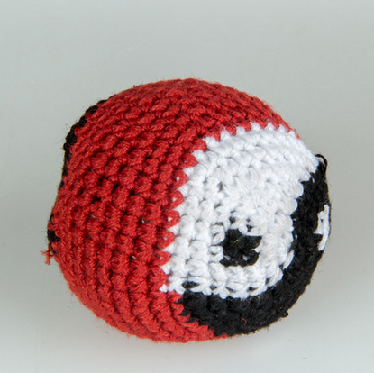 Hotsale Knitted Fabric Kick Ball with Logo, Promotional Knitted Hacky Sack Ball
