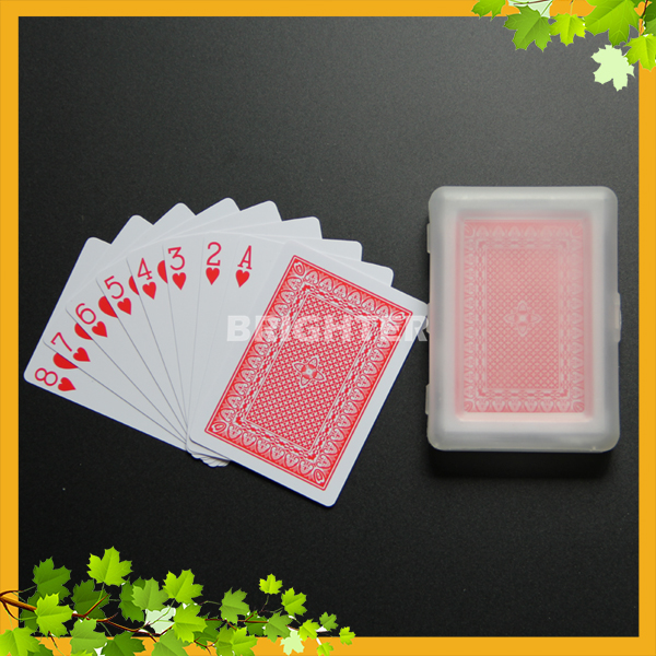 014 Plastic Box Packing 0.25mm Thickness Playing Cards Plastic