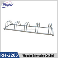 High Quality 5 Bike Standing Rack In Public , Galvanized Bicycle Parking Stand, Bike Bicycle Floor Parking Rack Storage Stand
