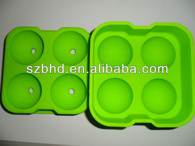 Brain Storming!!! Green Color Assorted Silicone Sphere Ice Ball