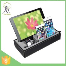 New design multi device docking station electronic device charging station for multiple devices