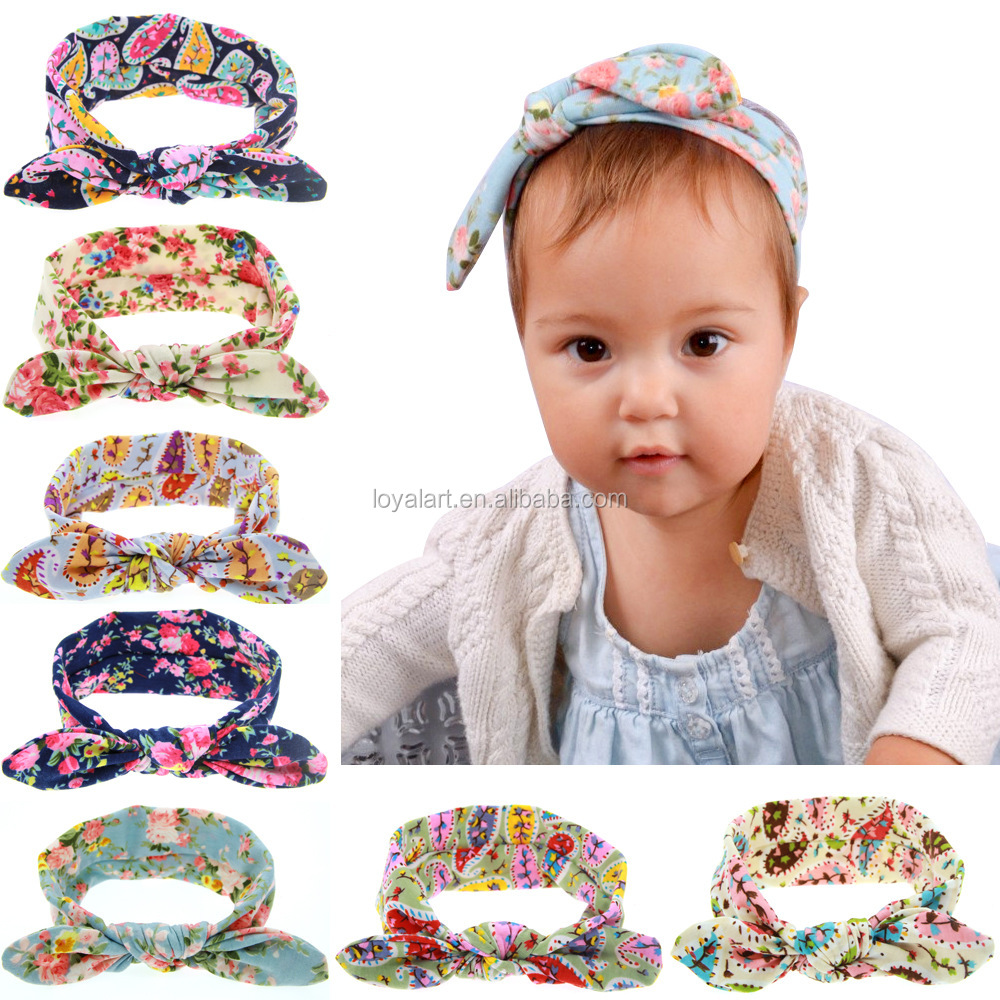 Novely 8 Pure Color Elastic Cotton Baby Bunny Ear <strong>Headband</strong>