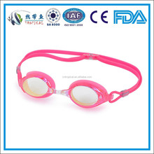 High quality silicone competition baby mirror coating swimming goggle,competition swimming goggles,racing goggles