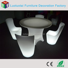 Modern LED Resterant Table LED Light up Dinner Table for Hotel / PE material led dining table
