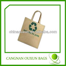 durable printed jute bag