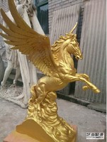 brass pegasus sculpture