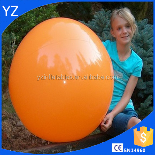 Colorful PVC promotion wholesale inflatable orange beach ball