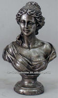 ANTIQUE SILVER POLYRESIN LADY SCULPTURE