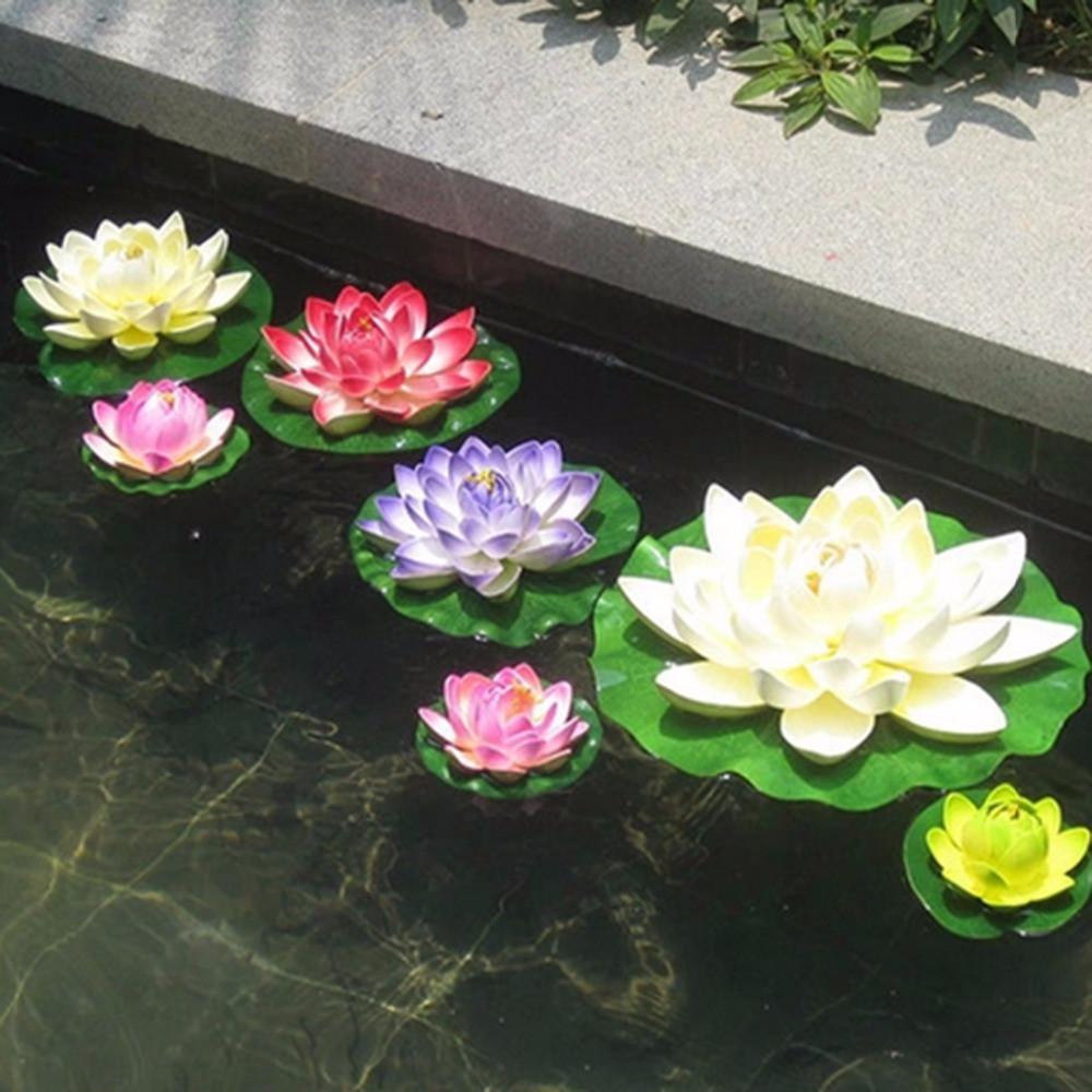 Artificial Plastic Flowers Fake Bouquet Lotus For Wedding Garden