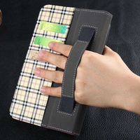 note book flip stand pu leather built in hand strap case for ipad mini