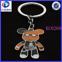 Fashion Alloy Customized Animal Shaped Little Bear Metal Keychain