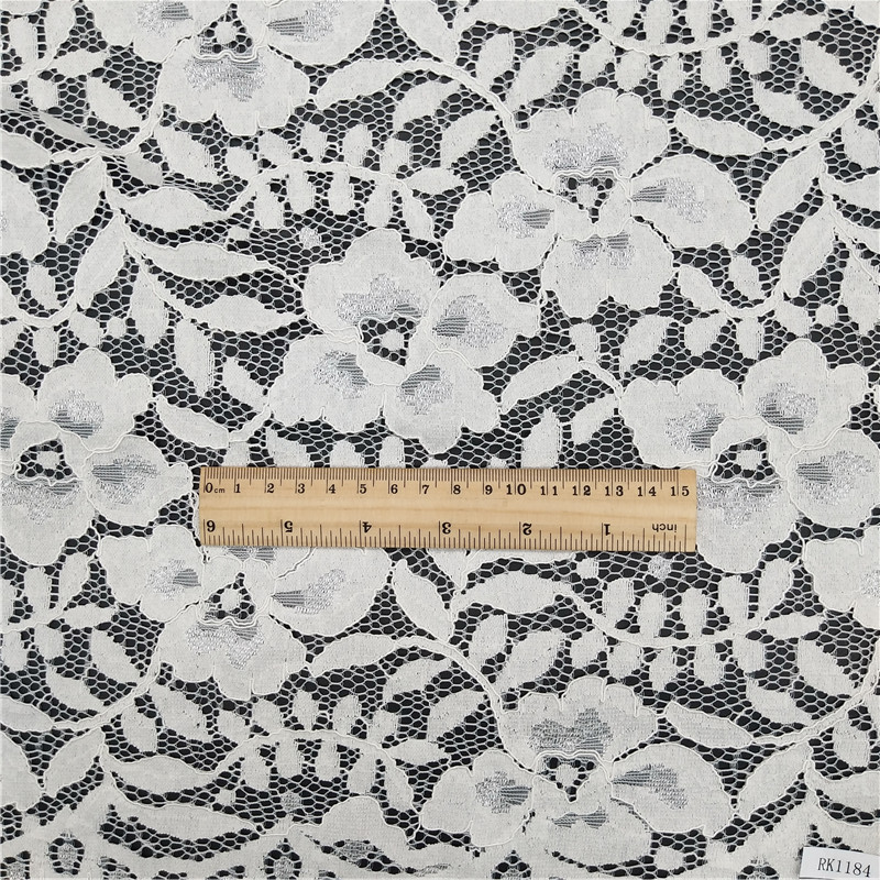 Nylon cotton high quality dress lace fabric