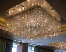 Luxury Large Custom Banquet hall Crystal Chandelier Hotel Project Lighting Ceiling Light