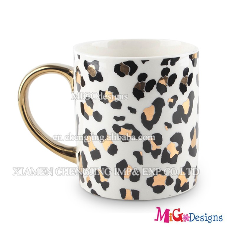 Fashionable Pattern Mug Ceramic Cup with Handle OEM Service - MG01160042