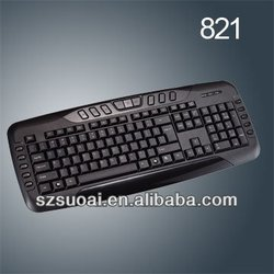 Hot Selling Wired multimedia Keyboard for laptops