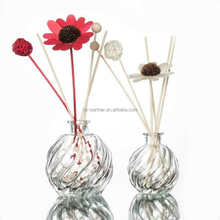 2017 new design empty 30ml 50ml fragrance scent round reed diffuser bottle for home office air freshener