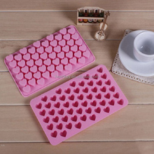 55 Heart Silicone Muffin Cups Handmade Soap Molds Biscuit Chocolate Ice Cake Baking Mold Cake Pan