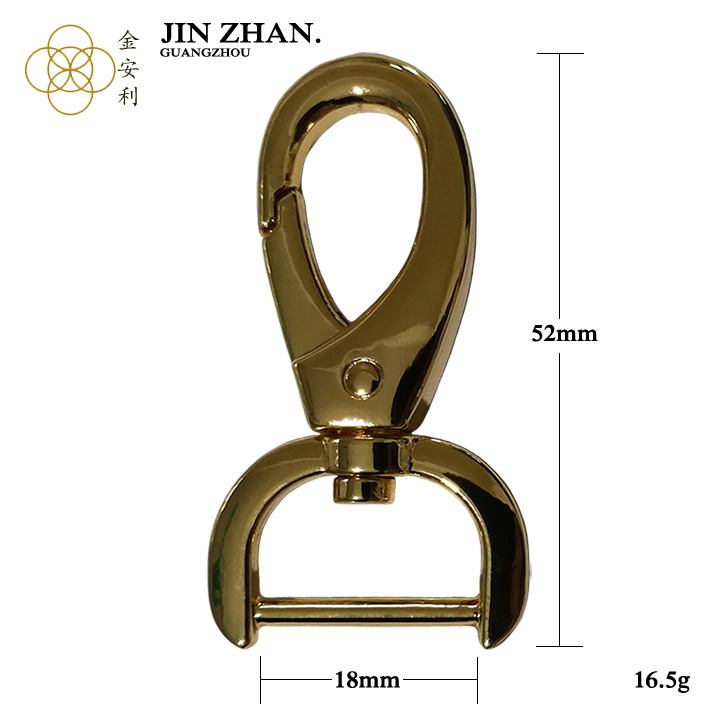 K4456 Guangzhou factory prices fashion trigger snap hook for handbag accessories