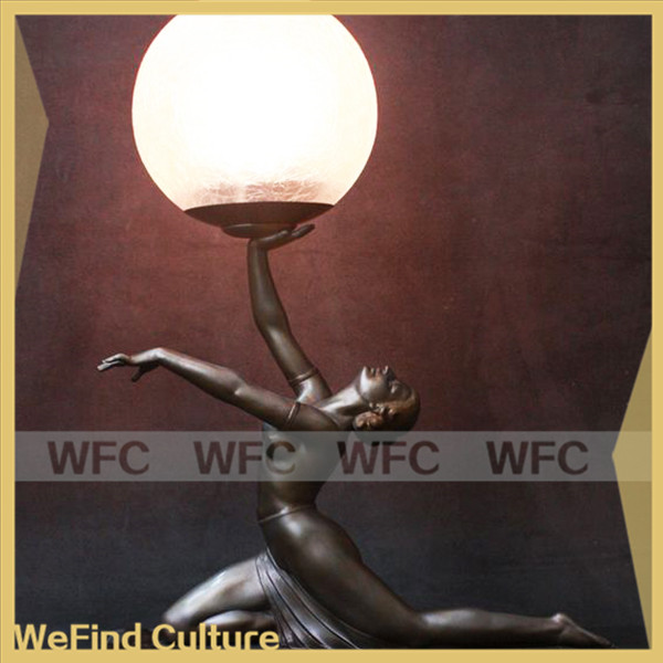 Decorative Bronze Lady Sculpture Lamps