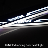 high quality car led moving door scuff sill scuff and illuminated plate led door courtesy logo light for Bmw 5 series
