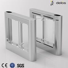 Automatic pedestrian access control system waist high 304 stainless steel swing turnstile gate with RFID card/fingerprint reader