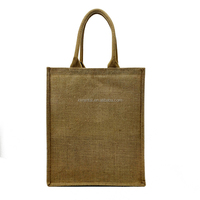wholesale eco beach gunny ladies burlap jute bags with tote handles