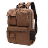 BSCI SEDEX Pillar 4 audit Vintage Canvas Backpack School Laptop Bag Hiking Travel Rucksack