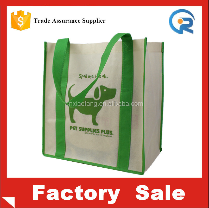 Wholesale cheap non woven fabric tote shopping bag for christmas