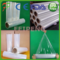 Waterproof LLdpe Plastic Film On Rolls/virgin LLDPE Stretch Warp Film