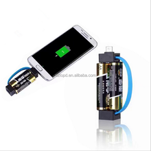 Emergency USB AA battery Charger Charging key chain data cable