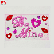 Be Mine Letter valentine gel clings gel sticker decoration glass sticker