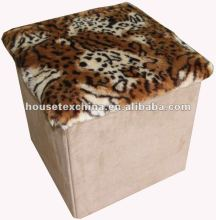 strong! fur&suede foldable storage stool