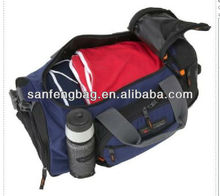 royal blue duffel bag with shoe pocket