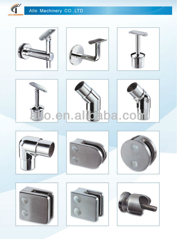 hardware stainless <strong>steel</strong> for railing adjustable handrail bracket pipe fittings