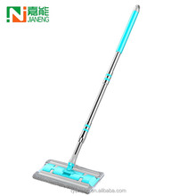 Hot sale Euro clean Customized Color microfiber flat mop with stainless steel handle stick