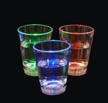 Halloween LED light up party decoration plastic cup Light up 2 oz Liquid Activated Shot Glass