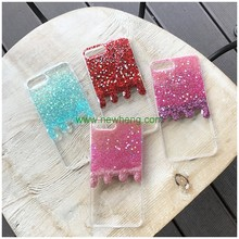 Fashion Gradient glitter Ice cream melts crystal tpu back cover case for iphone7