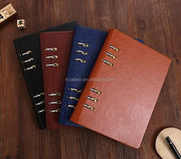 fashionable leatherette planner notebook/pu leather cover notebook