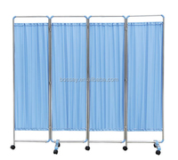 Hospital 3 fold medical bed room divider/hospital bed partition/hospital bed screen